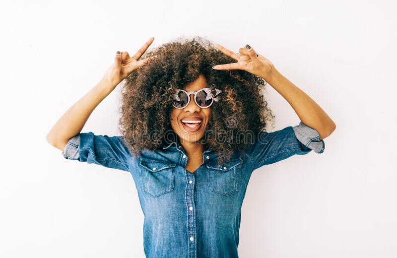 Portrait of young african american woman royalty free stock photo