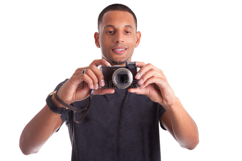 Download Portrait Of A Young African Man Taking A Picture Stock Image - Image of photographing, photograph: 27277185