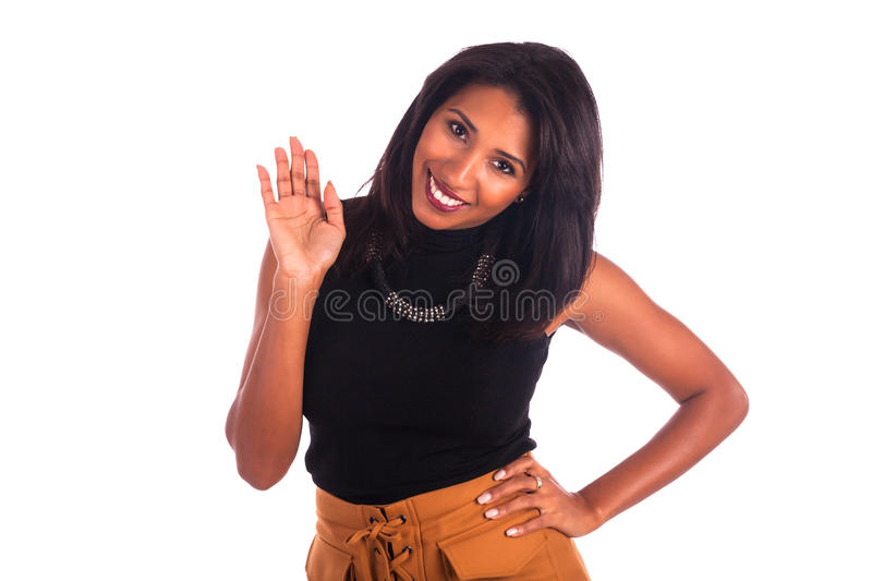 Portrait Of Young African Woman Smiling stock photo