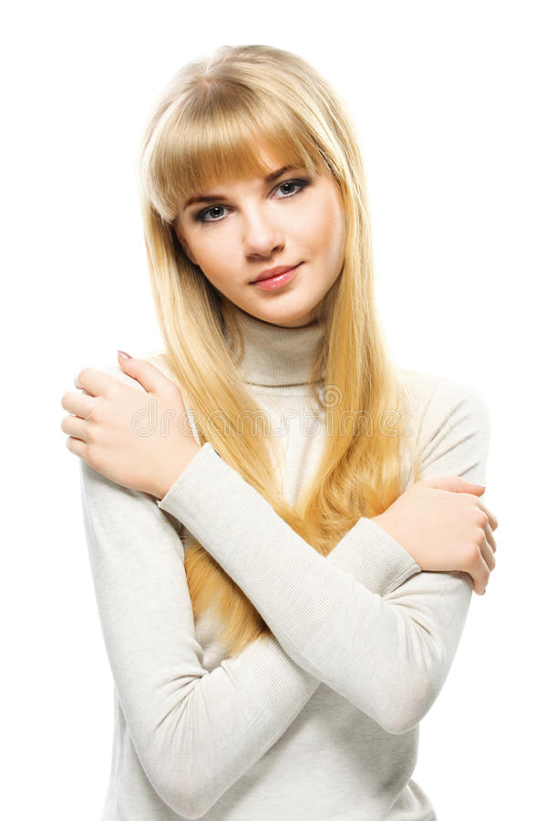 Portrait Of Young Alluring Blonde Royalty Free Stock Photography