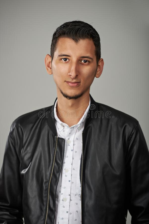 Portrait of young arab man stock photos