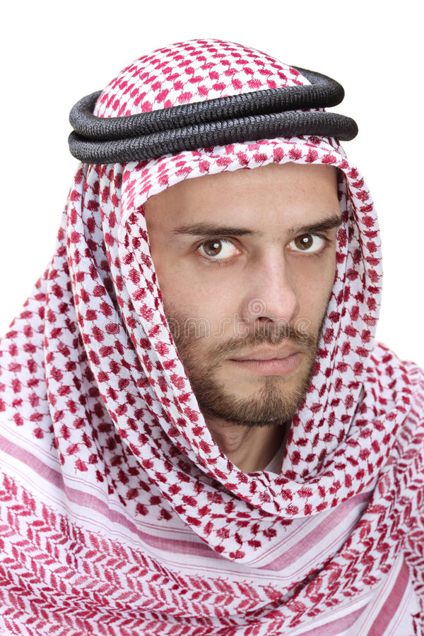Portrait of a young Arabic man wearing a turban stock photo