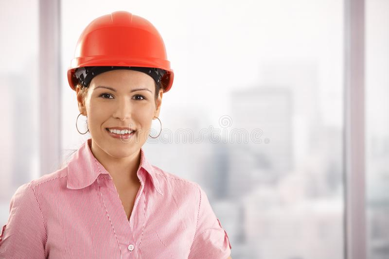 Portrait of young architect stock photos