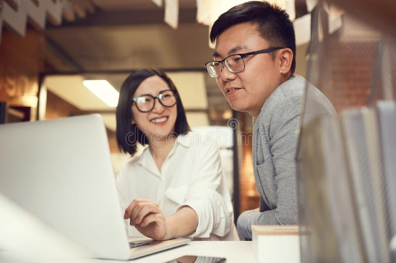 Ypung Asian Business People stock photo