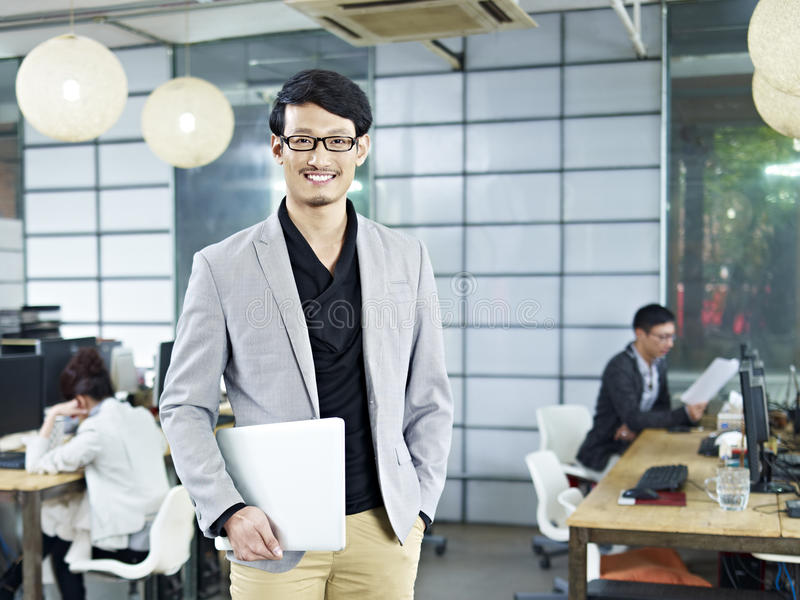 Portrait of young asian entrepreneur stock photography