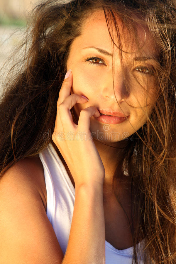 Portrait of young asian girl stock images