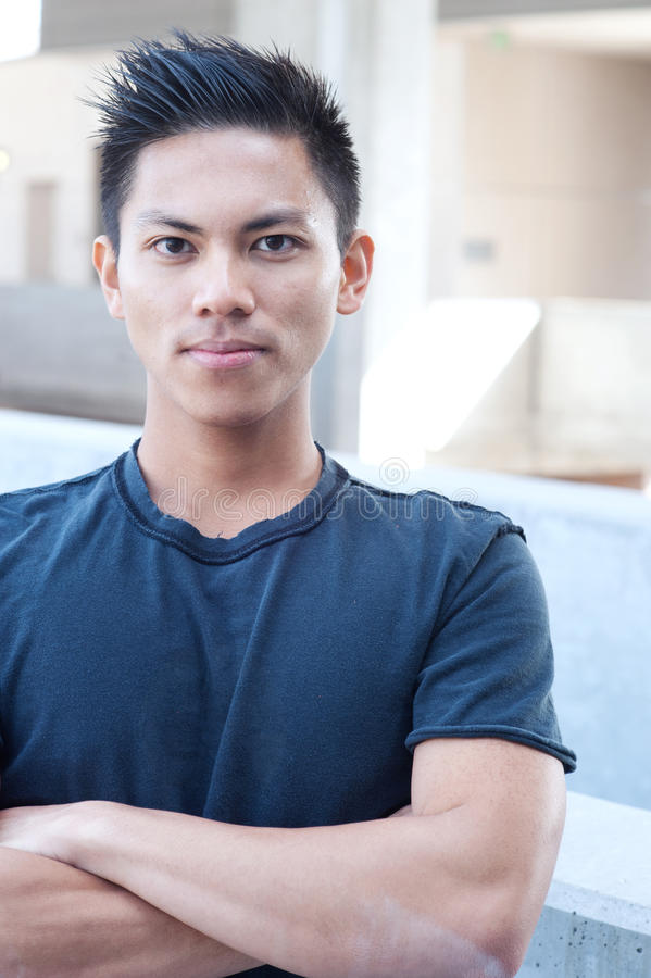 Portrait of a young asian male royalty free stock photos