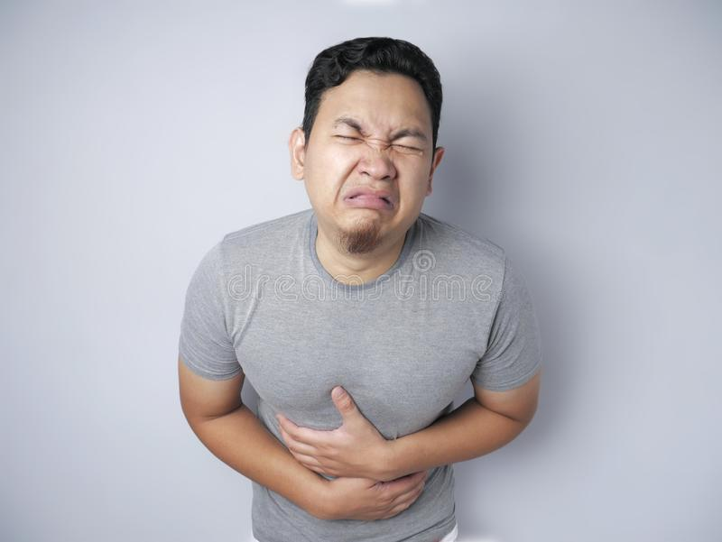Man Having Stomach Pain royalty free stock image
