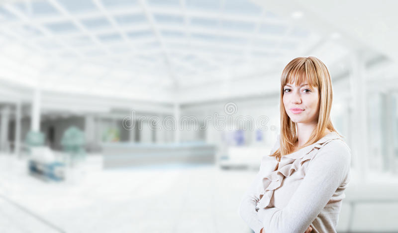 Portrait of a young attractive business woman stock photography