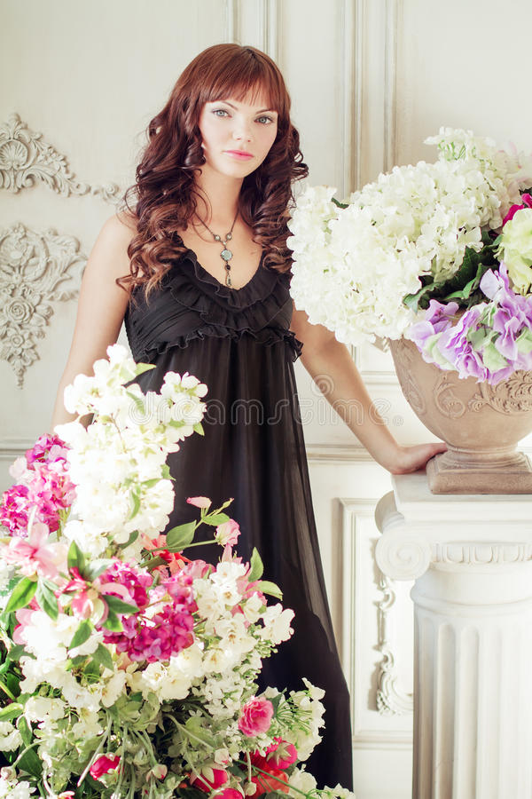 Portrait of a young attractive girl royalty free stock photos