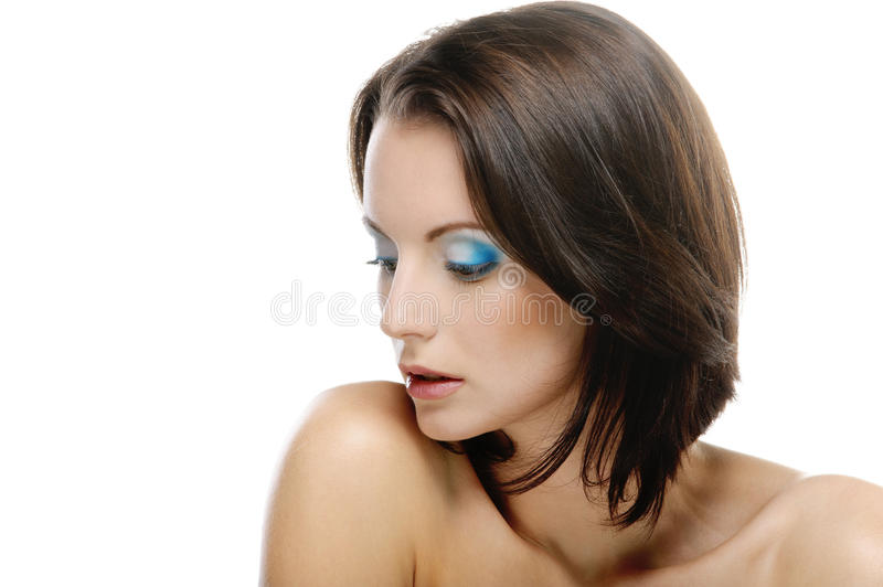 Portrait Of Young Attractive Woman Stock Photography