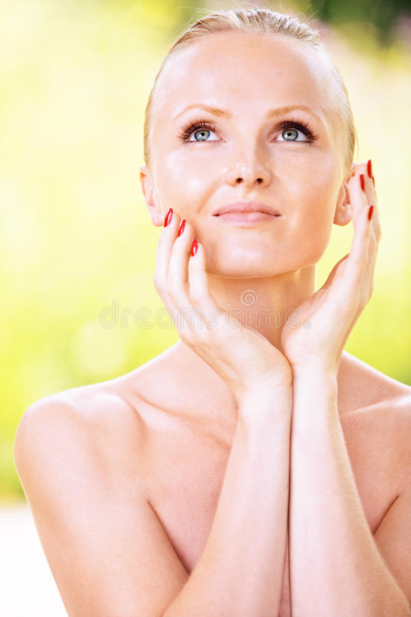 Portrait Of Young Attractive Woman Royalty Free Stock Photos