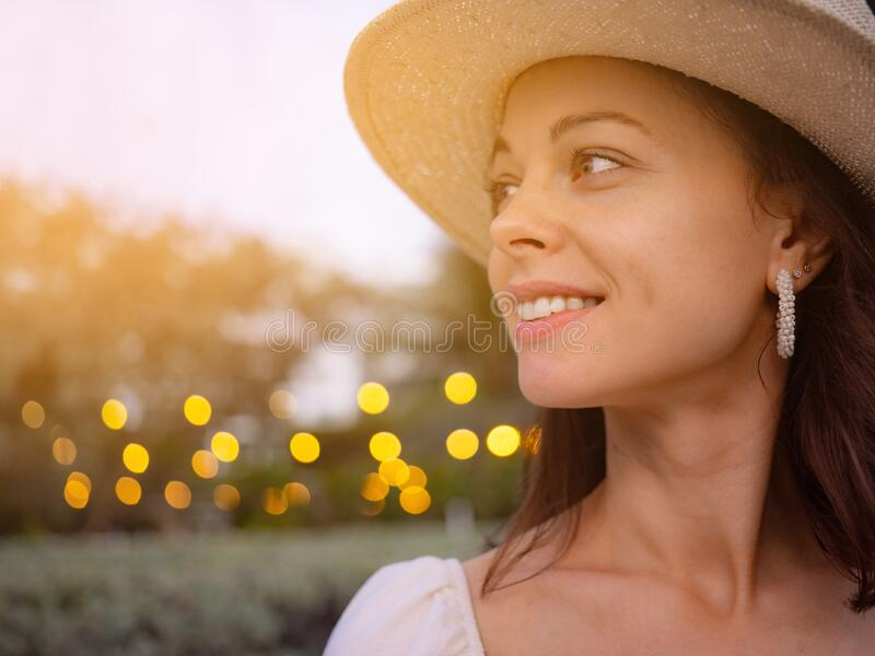 Portrait of a young attractive woman stock image