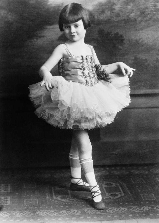 Portrait of young ballerina. (All persons depicted are no longer living and no estate exists. Supplier grants that there will be no model release issues stock image