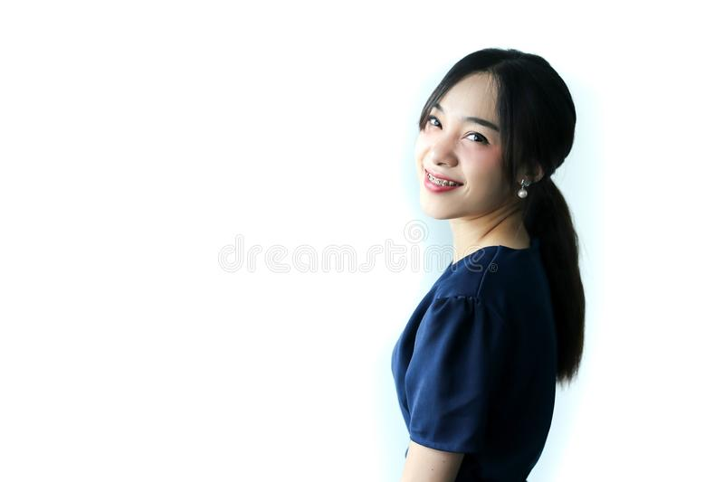 Portrait of young beautiful asia business woman idea, lifestyle concept.  stock image