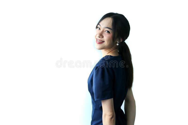 Portrait of young beautiful asia business woman idea, lifestyle concept.  royalty free stock photography