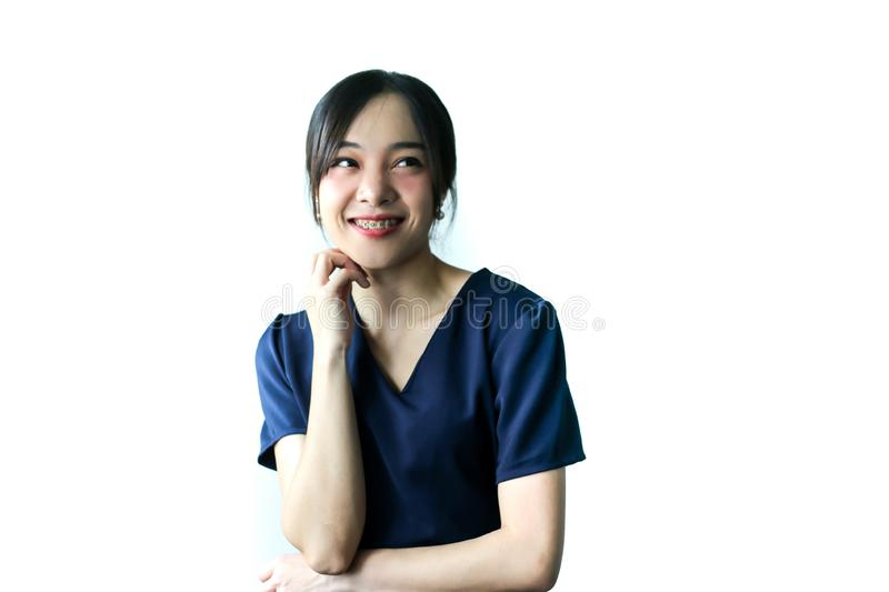 Portrait of young beautiful asia business woman idea, lifestyle concept.  stock photos
