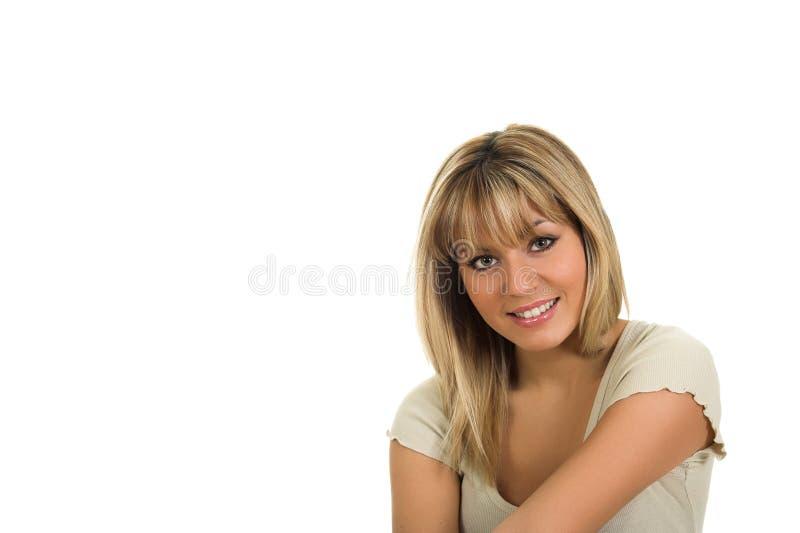 Portrait of beautiful blond hair girl posing royalty free stock photos
