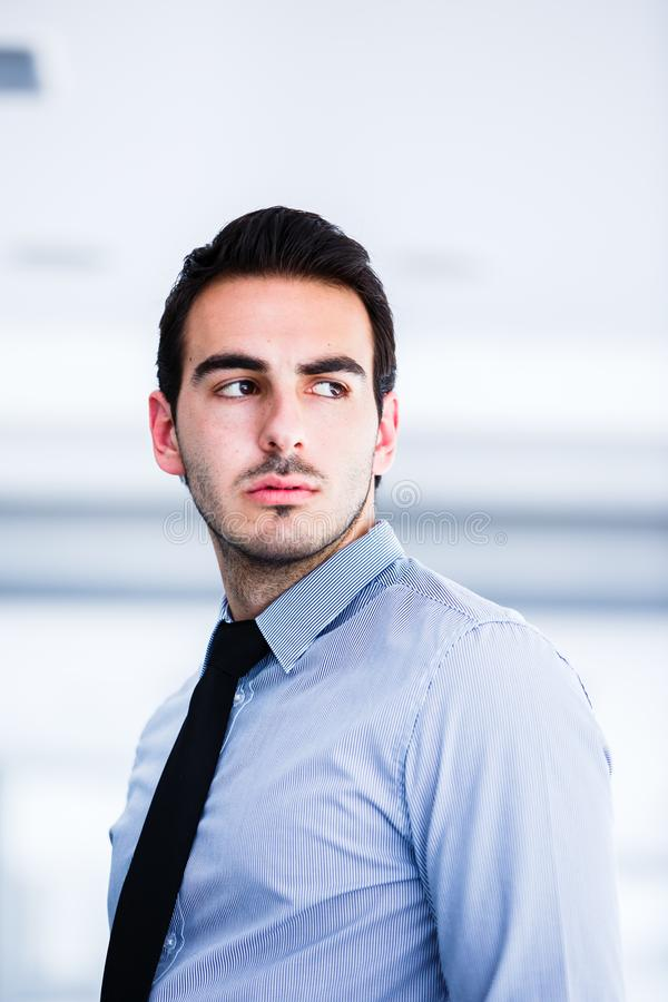 Portrait of young beautiful business man stock images