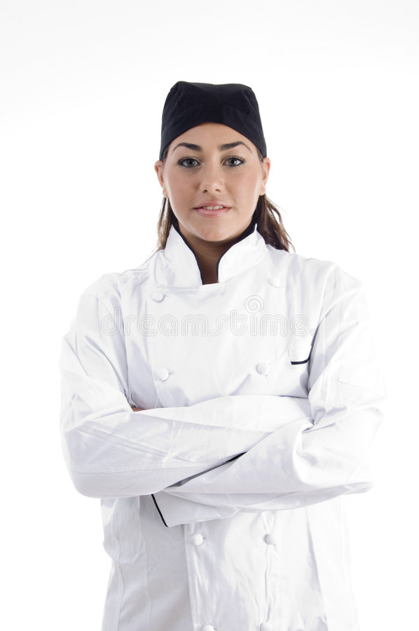 Portrait Of Young Beautiful Chef Stock Image