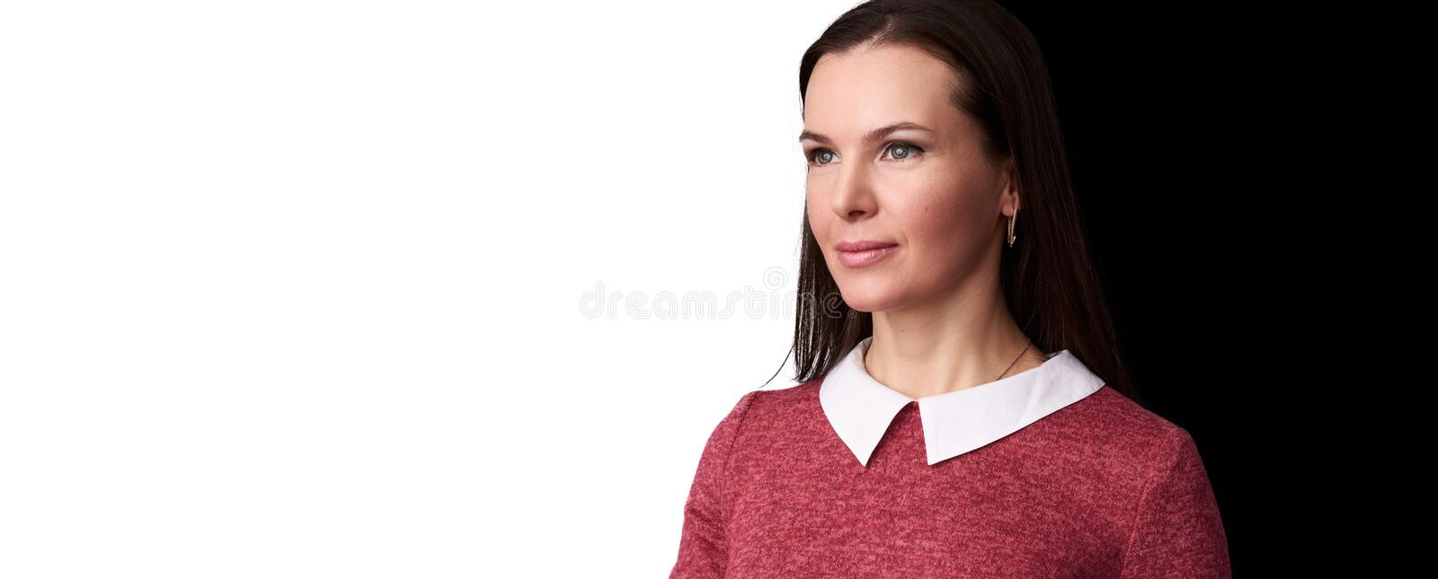 Portrait of young beautiful cute cheerful girl royalty free stock photography