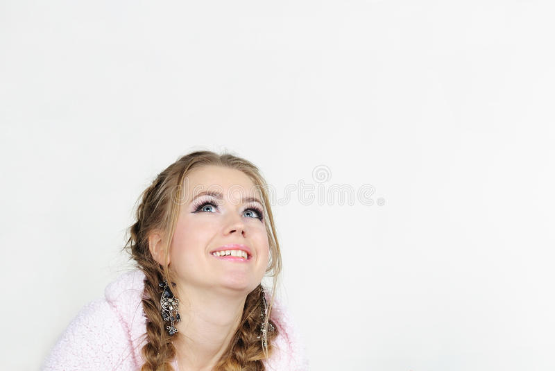 Download The Portrait Of The Young Beautiful Girl Stock Photo - Image of plait, hair: 22531162