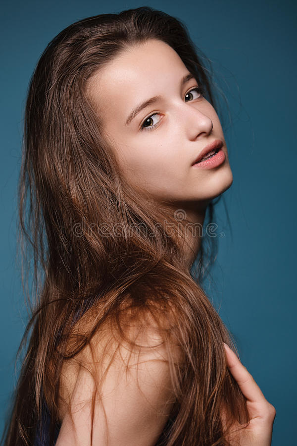 Portrait of young beautiful girl. stock photography