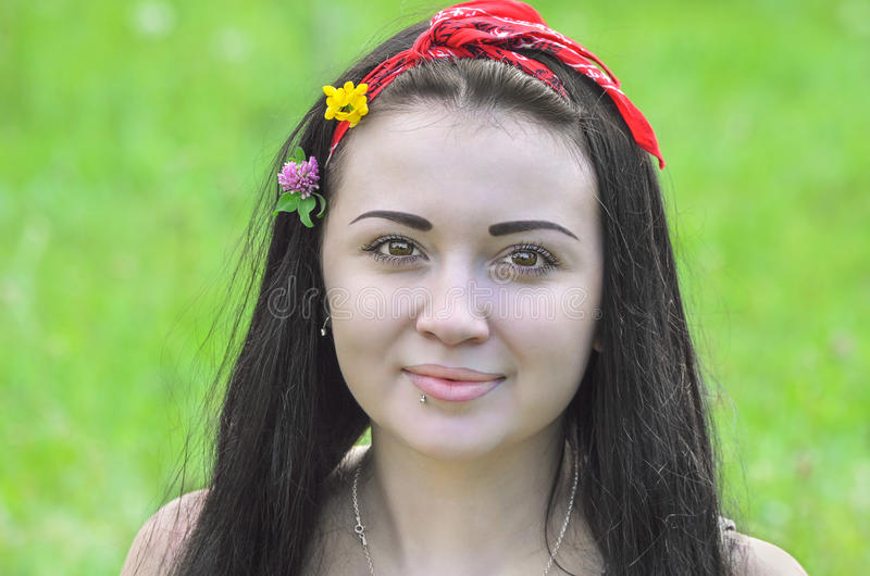 Portrait of a young beautiful girl royalty free stock images