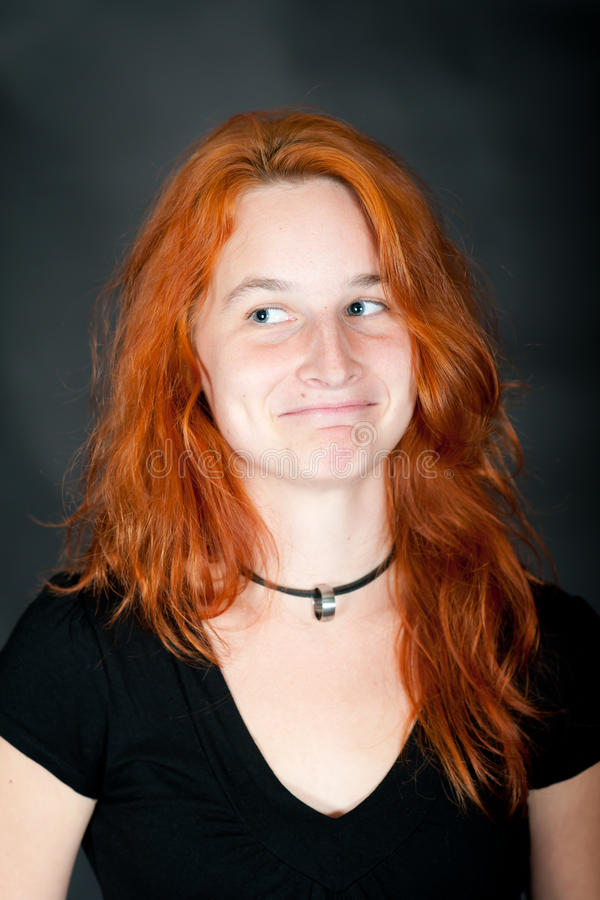 Download Portrait Of A Young Beautiful Redhead Woman Stock Image - Image: 16330887