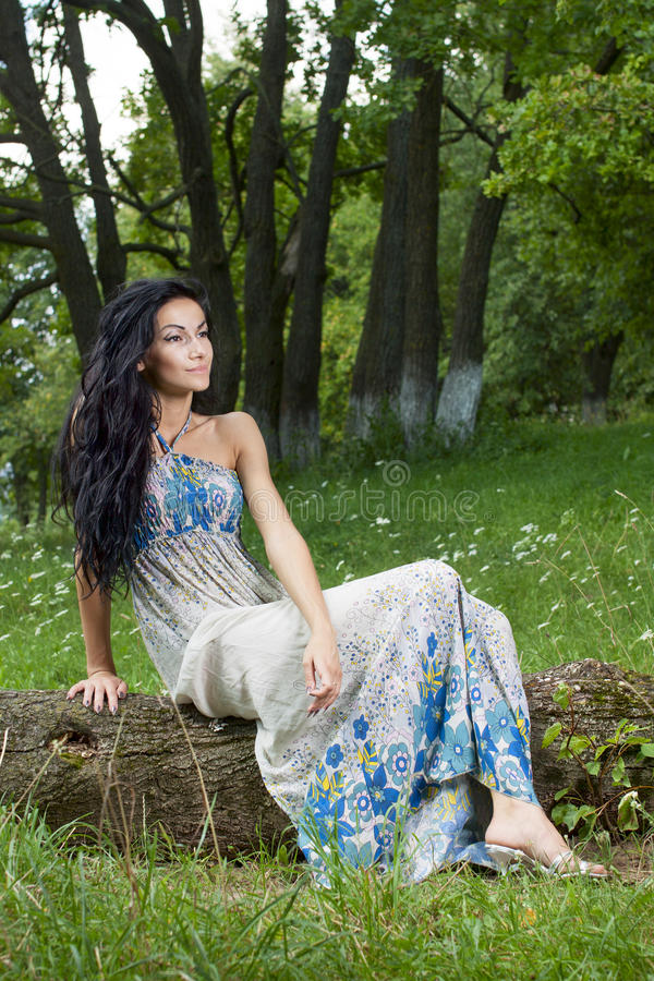 Portrait Of The Young Beautiful Smiling Woman Royalty Free Stock Photos