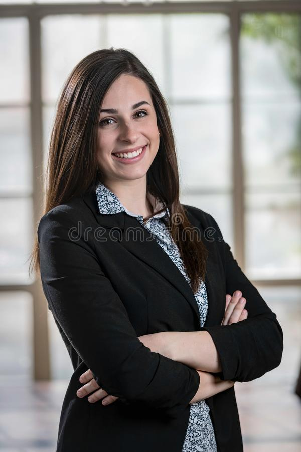 Portrait of a Young, Beautiful, Well Dressed, Business Woman royalty free stock photo