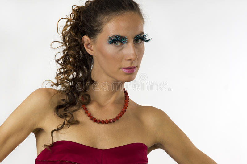 Portrait of a young beautiful woman royalty free stock image