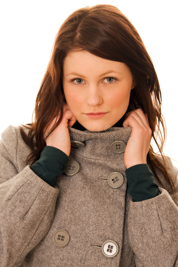 Download Portrait Of Young Beautiful Woman Stock Image - Image: 4095385