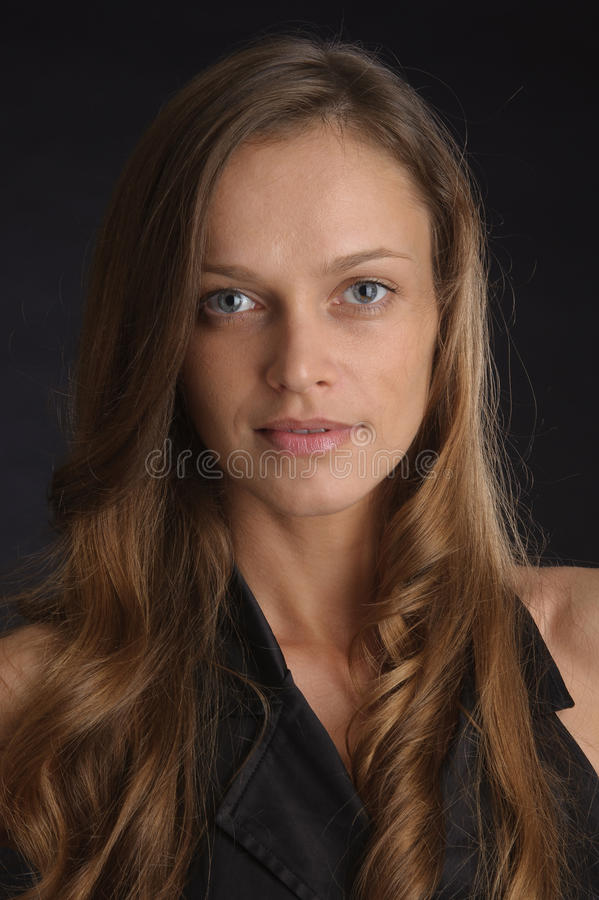 Portrait of young beautiful woman stock image