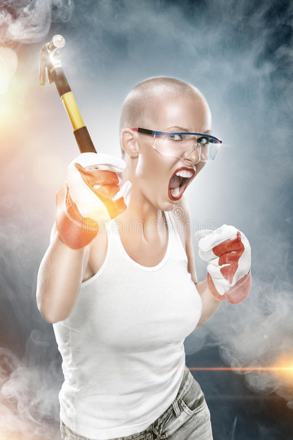 With Hammer Royalty Free Stock Photo