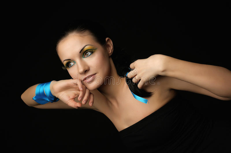 Portrait of a young beauty stock image