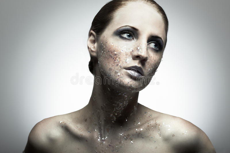 Portrait of young beauty woman royalty free stock image