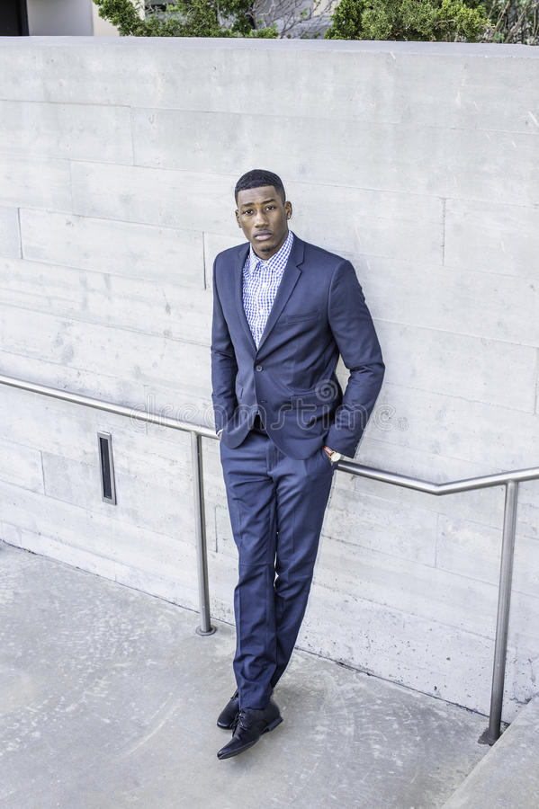 Portrait of Young Black Guy royalty free stock image