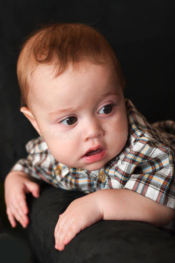 Download Portrait of a young boy stock image. Image of four, sitting - 14738623