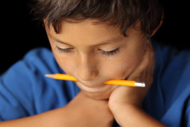 Portrait Of Young Boy - Chiaroscuro Series Stock Photo