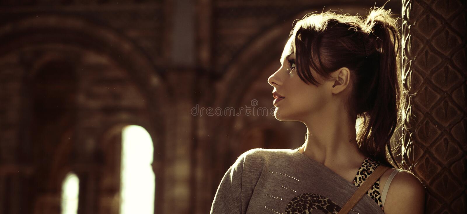 Download Portrait Of A Young Brunette Stock Image - Image: 27374991