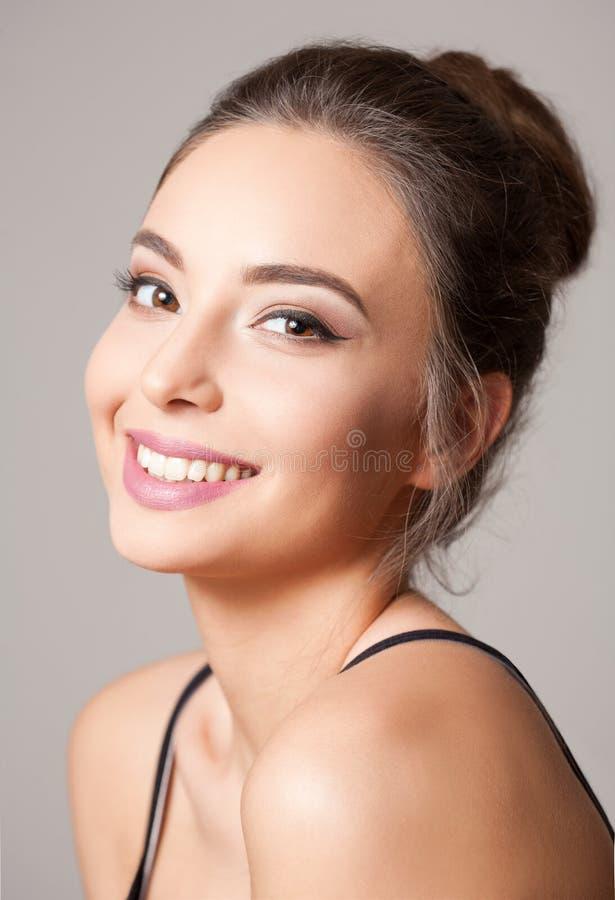 Brunette cosmetics beauty. stock photography