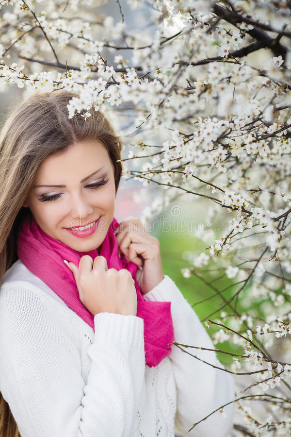 Download Portrait Of A Young Brunette In A Lush Garden Stock Image - Image: 38783955