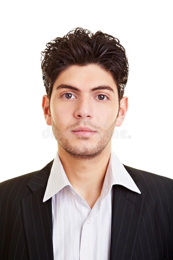 Portrait of young business man royalty free stock images