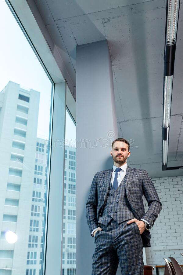 Portrait of young business man royalty free stock image