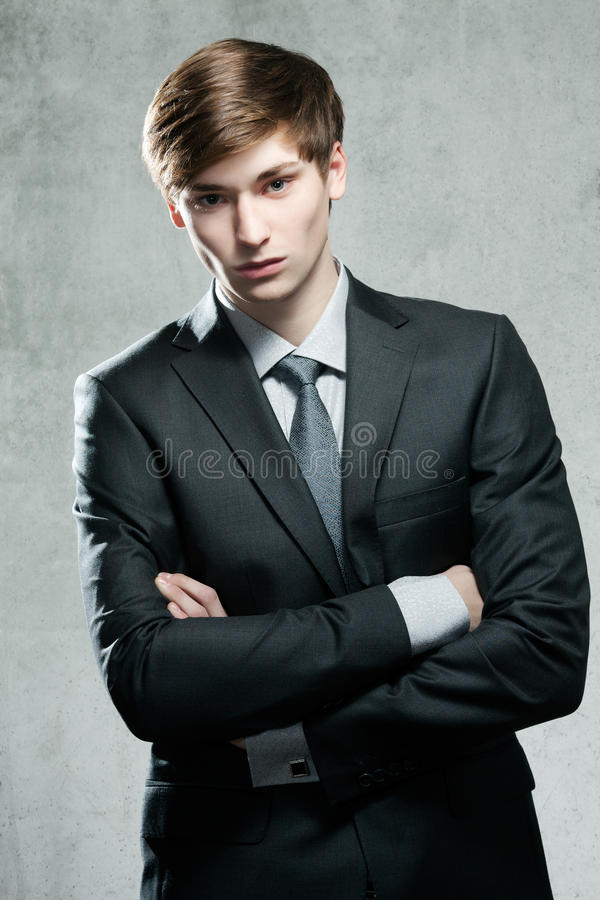 Portrait of a young business man stock photography