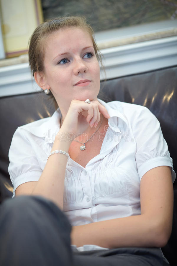 Download Portrait Of A Young Business Woman Stock Image - Image: 21526449