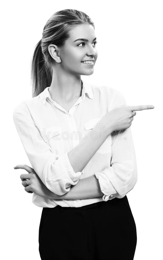Portrait of young business woman with blonde hair. stock photography