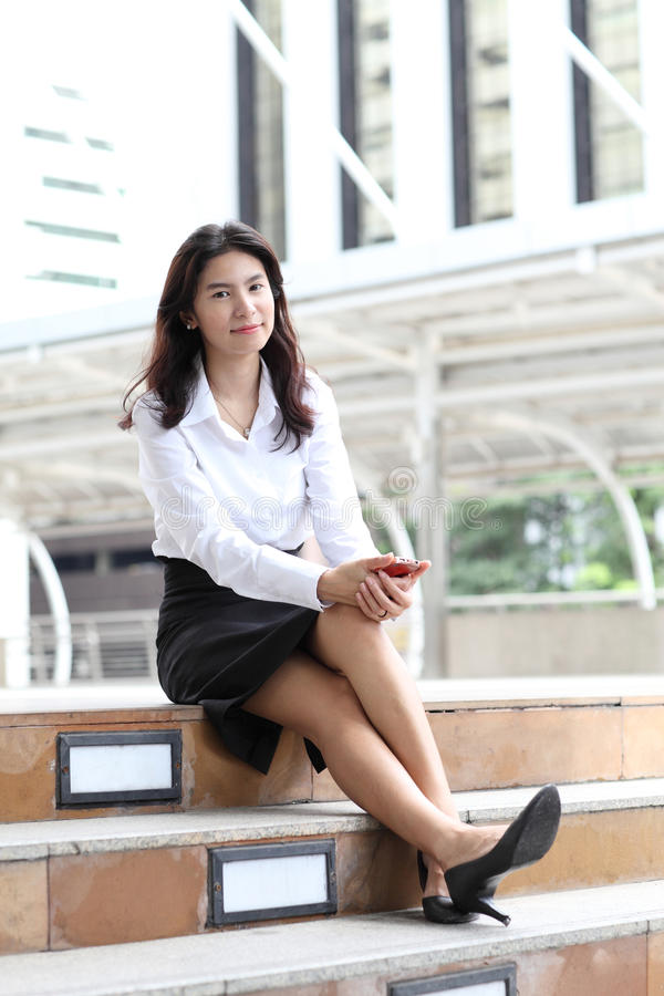 Download Portrait Young Business Woman With Her Mobile Smartphone Stock Photo - Image: 36964828