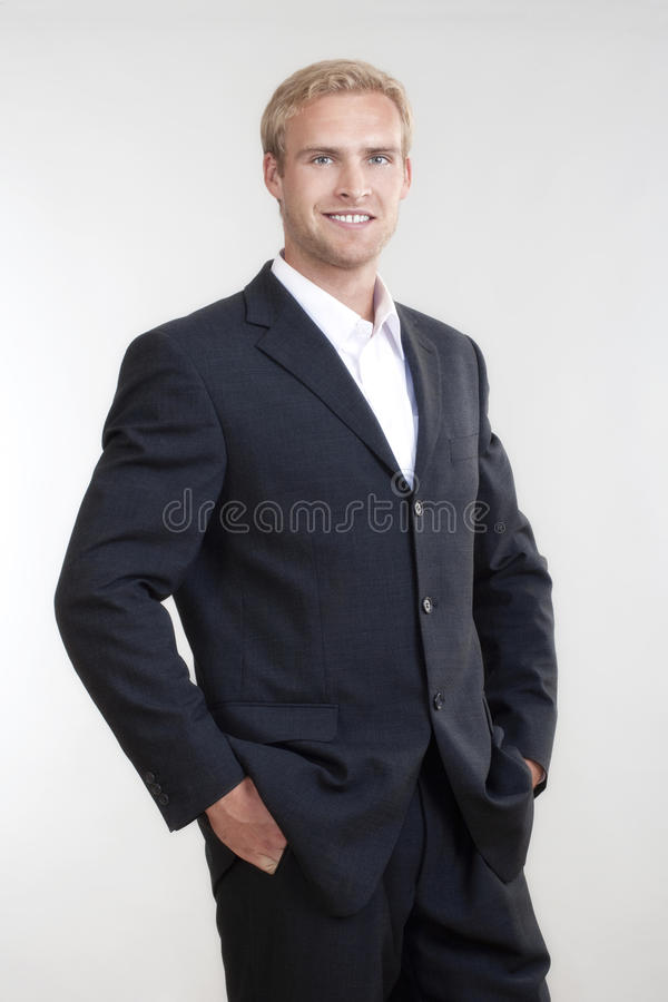 Portrait of a young businessman stock photography